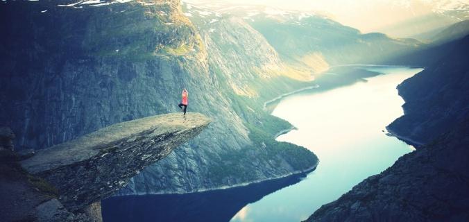 yoga on a cliff julia caesar