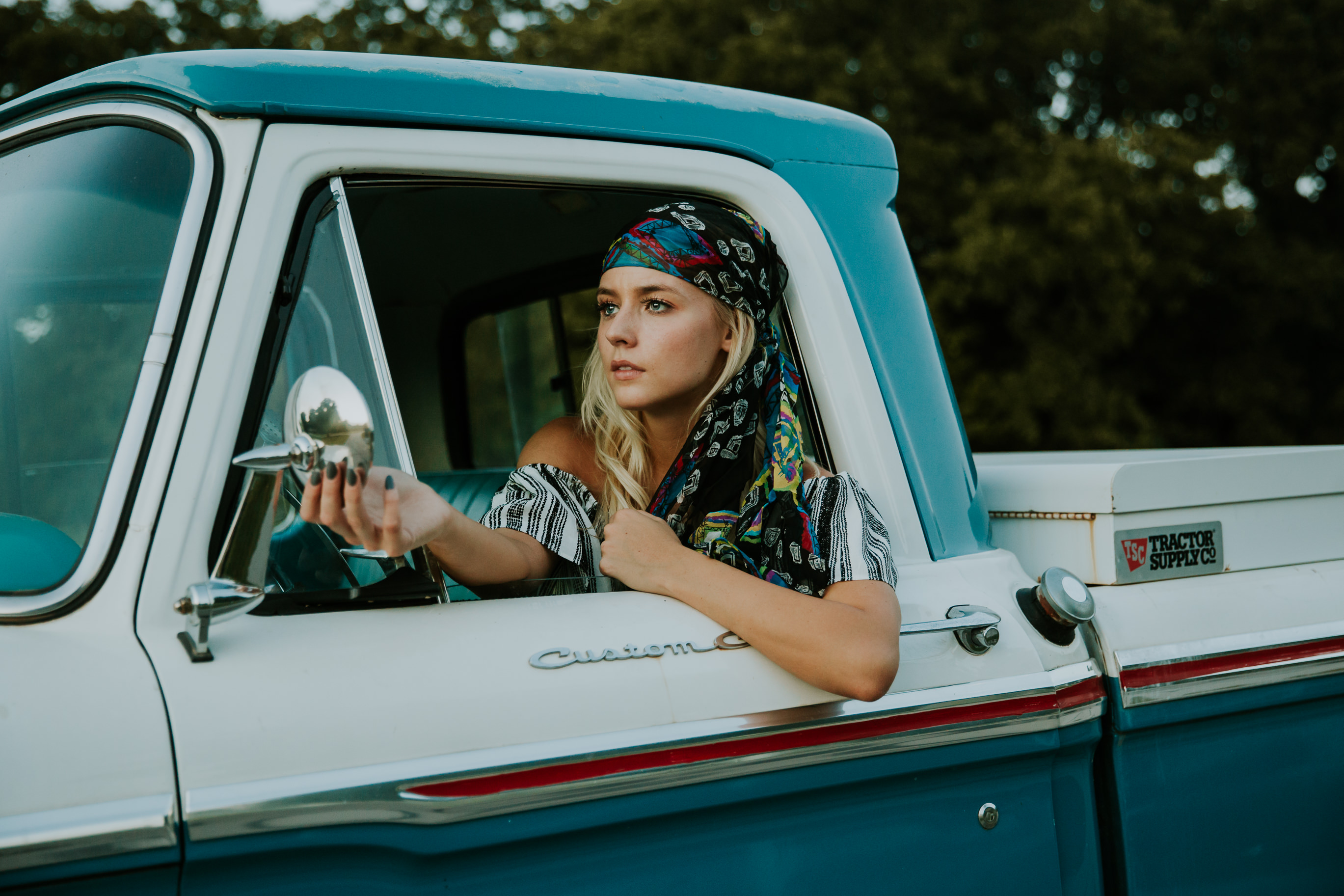 girl truck